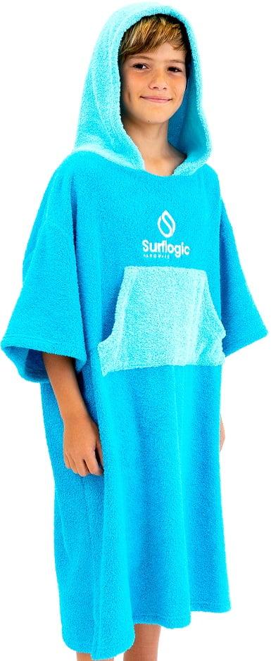 SURF LOGIC PONCHO NIÑO - Cyan / Turquoise